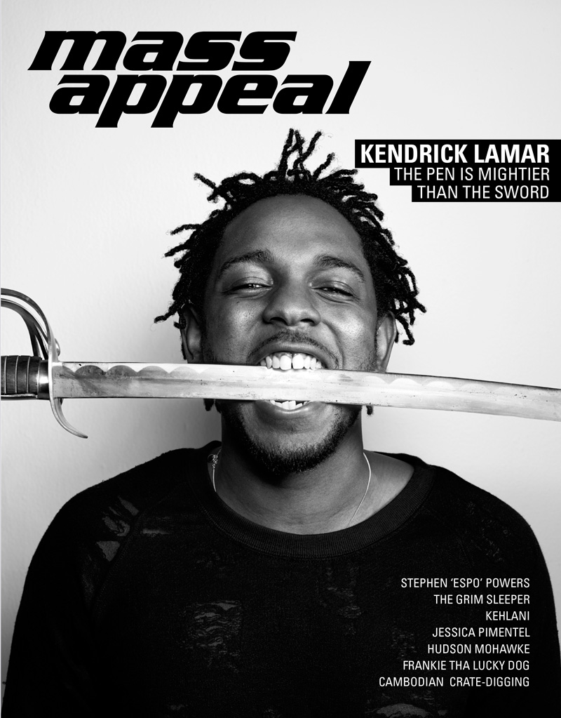 Kendrick Lamar Mass Appeal issue 56 cover image.