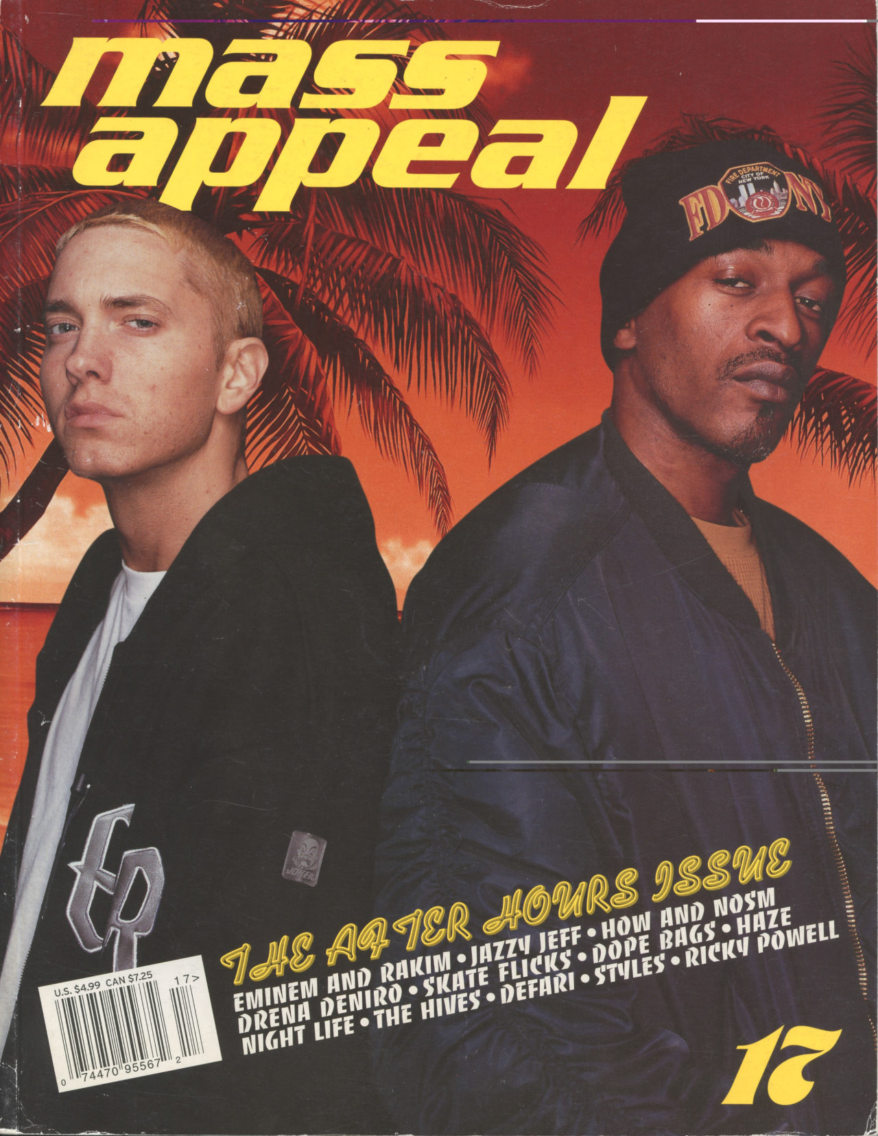 Eminem and Rakim on the cover of Mass Appeal 17.