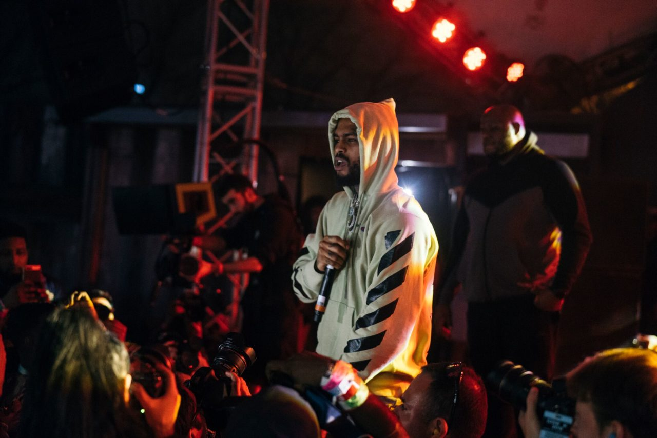 Dave East onstage