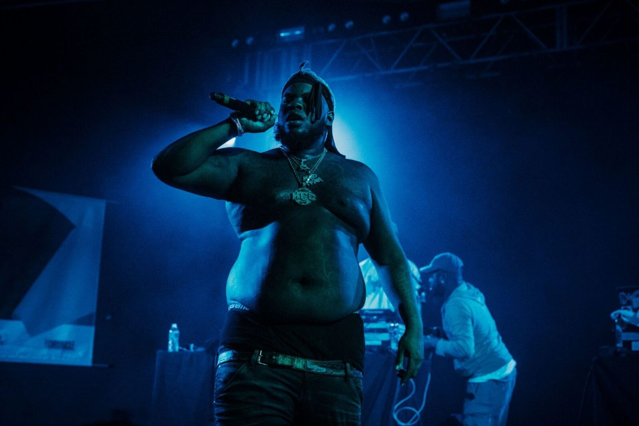 Maxo Kream onstage at Live at the BBQ